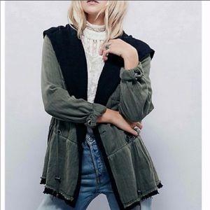 FREE PEOPLE utility hooded jacket